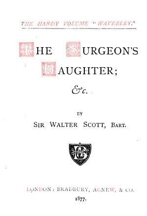 The Handy Volume  Waverly       The surgeon s daughter   c