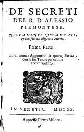 De' secreti del R. D. Alessio Piamontese