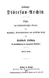 Freiburger Diözesan-Archiv: Bände 11-12
