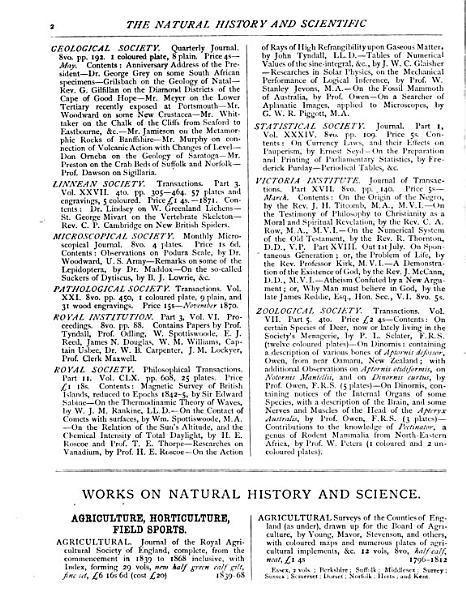 Download The Natural History and Scientific Book Circular Book