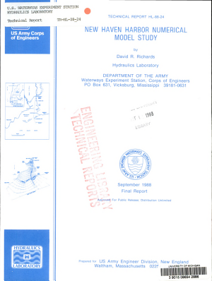 New Haven Harbor Numerical Model Study