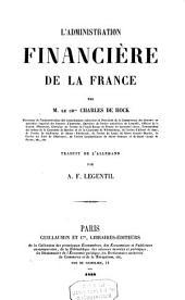 L'administration financière de la France