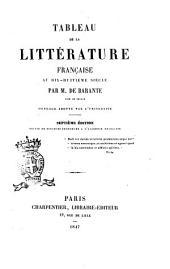 Tableau de la littérature française au dix-huitième siècle par m. de Barante