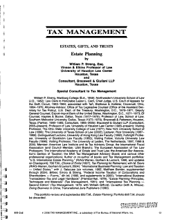 Tax Management Portfolios PDF