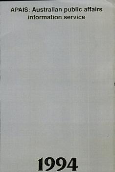 APAIS 1994  Australian public affairs information service PDF