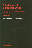 A Dictionary of Scientific Units
