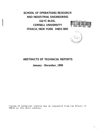 Abstracts of Technical Reports PDF