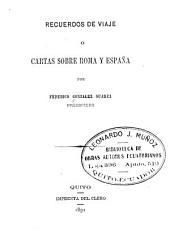 Recuerdos de viaje o: Cartas sobre Roma y España