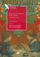 Approaches to the History of Written Culture PDF