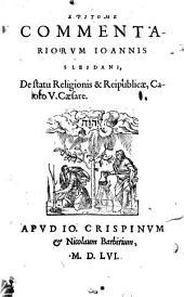 Epitome Commentariorum J. Sleidani de statu religionis