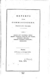 Parliamentary Papers, House of Commons and Command: Volume 16