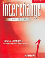 Interchange Workbook 1 PDF