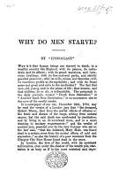 Why do men starve  By Iconoclast PDF