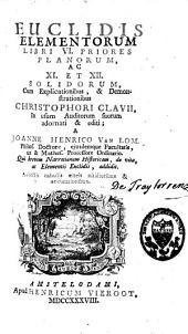 Euclidis Elementorum libri VI, priores planorum, ac XI et XII solidorum