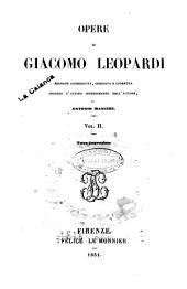 Opere di Giacomo Leopardi: Vol 1, Volume 2