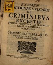 Examen doctrinae vulgaris de criminibus exceptis