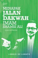 Menapak Jalan Dakwah Imam Shamsi Ali  Islam dan Amerika PDF