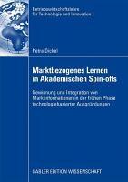 Marktbezogenes Lernen in akademischen Spin Offs PDF
