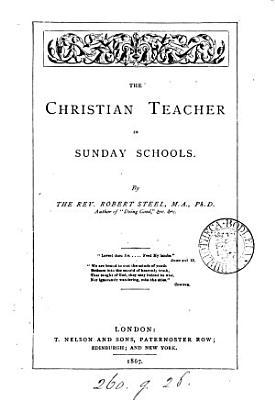The Christian teacher in Sunday schools PDF