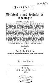 Zeitschrift für Philosophie und spekulative Theologie: Bände 3-4