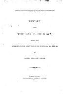Report Upon the Fishes of Iowa  Based Upon Observations and Collections Made During 1889  1890  and 1891 PDF