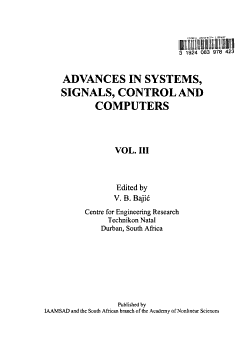 Advances in Systems  Signals  Control and Computers PDF