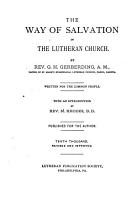 The Way of Salvation in the Lutheran Church PDF