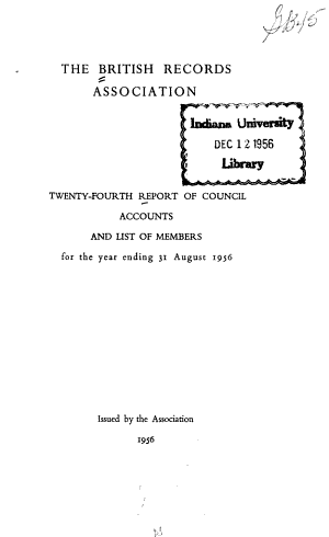 Report of Council  Accounts  and List of Members PDF
