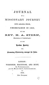 Journal of a missionary journey into Arabia Felix, undertaken in 1856: Volume 17