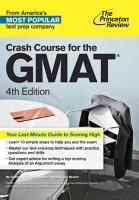 Crash Course for the GMAT  4th Edition PDF