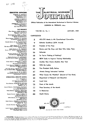 The Electrical Workers' Journal