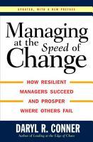 Managing at the Speed of Change PDF