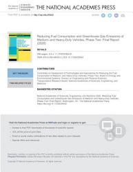 Reducing Fuel Consumption and Greenhouse Gas Emissions of Medium  and Heavy Duty Vehicles  Phase Two PDF