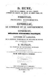 Mélanges d'economie politique, 2 partie: Précédés de notices historiques sur chaque auteur, et accompagnés de commentaires et de notes explicatives