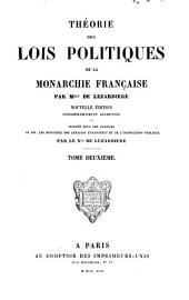 Theorie des lois politiques de la monarchie Française: Volume2