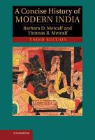 A Concise History of Modern India PDF