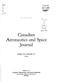 Canadian Aeronautics and Space Journal PDF