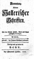 Sammlung kleiner Hallerischer Schrifften PDF