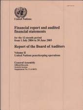 Financial Report and Audited Financial Statements for the 12-month Period July 2004 to June 2005