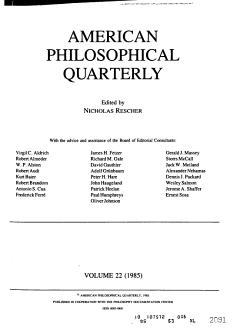 American Philosophical Quarterly PDF