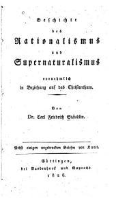 Geschichte des rationalismus und supernaturalismus