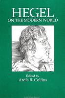Hegel on the Modern World PDF