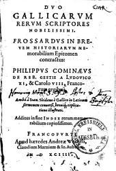 Frossardus in brevem historiarum memorabilium epitomen contractus