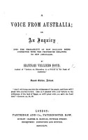 A Voice from Australia  or  an Inquiry into the probability of New Holland being connected with the prophecies relating to New Jerusalem and the spiritual temple  With plates PDF