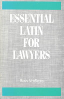 Essential Latin for Lawyers PDF