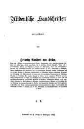 Altdeutsche Handschriften