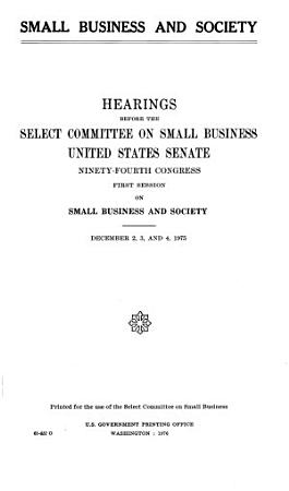 Small Business and Society PDF