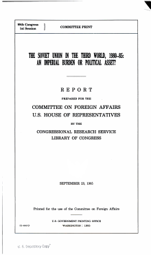 The Soviet Union in the Third World  1980 85 PDF