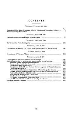 Departments of Veterans Affairs and Housing and Urban Development, and Independent Agencies Appropriations for Fiscal Year ...