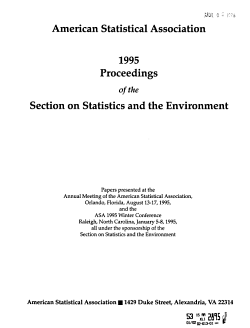 Proceedings of the Section on Statistics and the Environment PDF